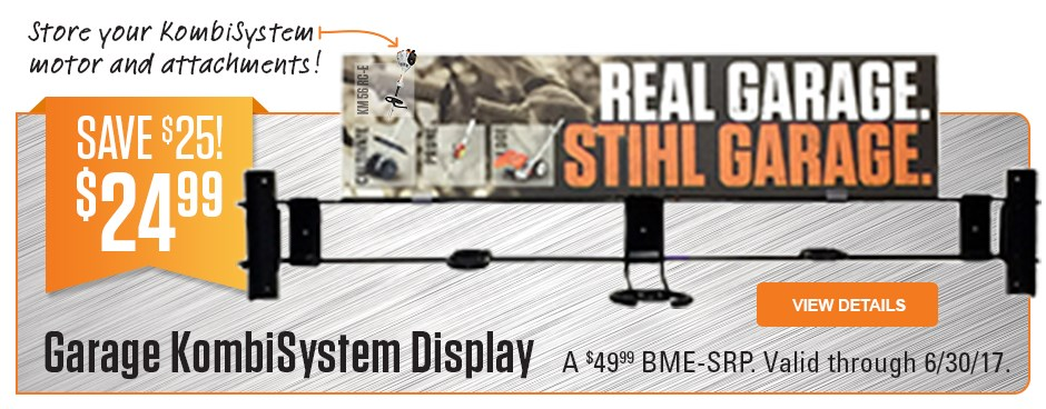 Save $25 on Garage KombiSystem Display